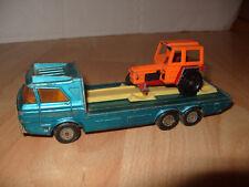 Matchbox Super Kings Tractor Transporter K-21 & 1 Tractor 1974 Diecast -285