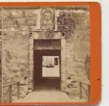 the Door Way of the Fort Cost of Arms St Augustine FL Stereoview c1880