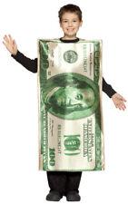 $100 Bill Child Money Halloween Costume size 7-10