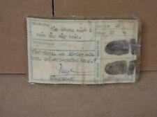Vietnam War Prisoner fingerprints identity