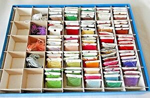 Embroidery Floss Storage Container & 48 Embroidery Floss New & Used, Non Smoking