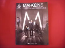 Maroon 5 - It won´t be soon... . Songbook Notenbuch Vocal Guitar