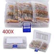 400pcs 16 Values 1/2W Metal Film Resistors Resistance Assortment Kit 5% Mix Pack