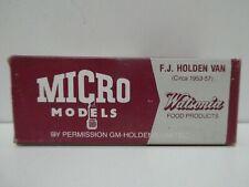 VINTAGE MICRO MODEL HOLDEN FJ BOXED TOY MODEL CAR