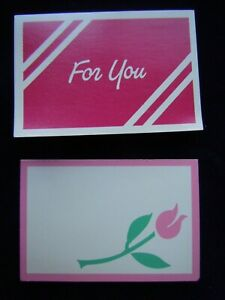 """9 Gift Enclosure Cards 2 Designs Blank inside  2.125""""x3.125"""""""