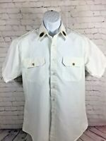Vintage American Legion Official Shirt Button Up White Size Large / Patches