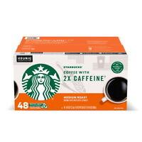 Starbucks Coffee 2X The Caffeine K-Cups, Medium Roast (48 Ct) Great Value!