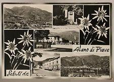 SALUTI DA ALANO DI PIAVE VIAGGIATA FG 1968 BELLUNO #18248