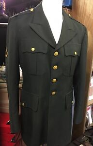 Men's Green Army Jacket Size 41R LARP, Goodwood, 1940s, Theatre Stage Shows