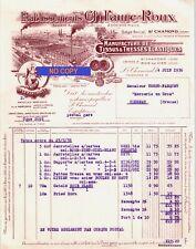 Beau Document du 04/06/1936 FAURE ROUX Tissus & tresses - St-Chamond 42