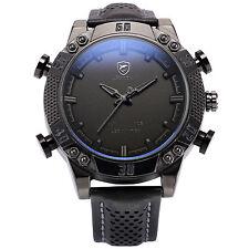 Kitefin SHARK Men's Black LED Digital Leather Stylish Sport Date Day Wrist Watch