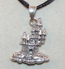 Sterling Silver Castle Pendant (13054)