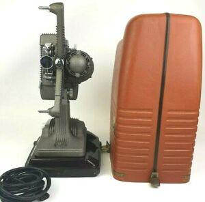 Revere Model 48 16mm Film Projector WORKING BULB w/Original Case Vintage Nice