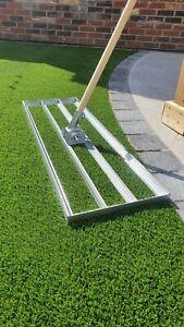 Lawn Leveller /Lute, Levelling Rake, Grass, Artificial, 100cm x 32cm 1.2m Handle