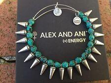 NEW ALEX and ANI Emerald SPIKE of CREATIVITY Beaded SILVER Bangle BRACELET