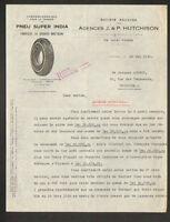 """NANTES (44) USINE de PNEU / PNEU SUPER INDIA """"J. & P. HUTCHISON"""" en 1940"""