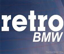 RETRO BMW Classic Vintage Car/Window/Bumper Novelty Vinyl Sticker/Decal