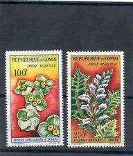 CONGO(BRAZZAVILLE) Sc C8-9(MI 28,34)**VF NH FLOWERS $24