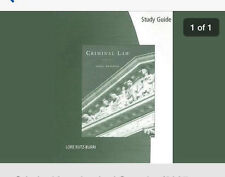 Criminal Law (2008) Paperback, Study Guide 9th Edition