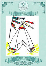 Wigwam,teepee,flags sewing pattern with paper pieces,for garden-free UK postage