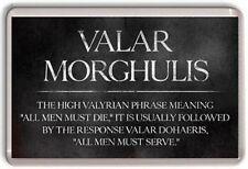 Valar Morghulis Game Of Thrones Crown Fridge Magnet