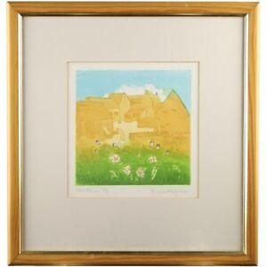 Original Fosse Farm Wiltshire Framed Etching Print A/P Signed Anne Longridge