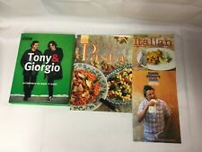 4x Italian Recipe Books Perfect Pasta Tony & Giorgio Jamie's Italy Modern