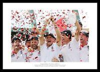 England Team 2011 Ashes Series Celebrations Cricket Photo Memorabilia (253)