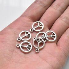 20X Tibetan Silver Peace Symbol Sign Charm Pendant 18*14mm For DIY Bracelet