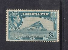 GIBRALTAR....  1938   3d light blue, perf 13½ mint