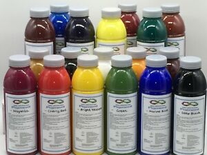 Infinity Leathercare & Dyes Leather Pigment Starter Kit 18 standard colours