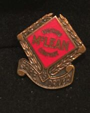 """Vtg '70's McLean Trucking Co Screw Back Pin Safe Driver 3/4"""" Bronzed Metal Yr15"""
