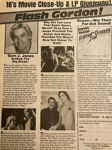 Flash Gordon, Sam J. Jones, Full Page Vintage Clipping