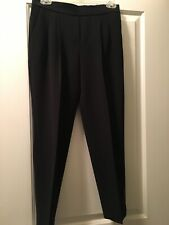 Aritzia Babaton Black Tapered Trousers Sz 2