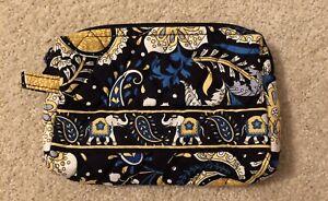 "Vera Bradley Small Cosmetic Bag Ellie Blue NWT 4.5"" X 6.5"""
