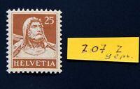 SCHWEIZ Michel Nr. 207 z tadellos postfrisch bestens geprüft Abt BPP 250 Euro