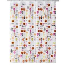 CELEBRATE HALLOWEEN TOGETHER Glow-in-the-Dark Boo Parts Shower Curtain NEW TAGS