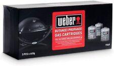 Weber Q1000/100 Gas Cartridge 2pcs + 1