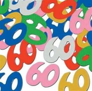 60th Birthday Confetti 1/2 oz Foil Decoration 60th Birthday Decorations