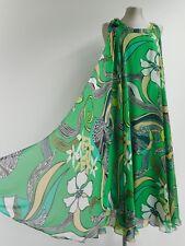 Impresionante Vestido Verde Tubo De Lápiz De Escada Con Seda Floaty sobre la capa 34 XS UK8