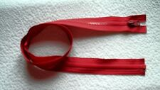 30 1/2 inch Red Vislon #5 Separating Vislon Ideal Zipper New!