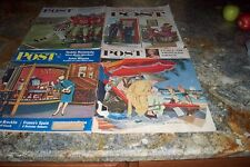 4 VINTAGE SATURDAY EVENING POST MAGAZINES 1959'S- 1960'S LOT OF ADS NO RESERVE