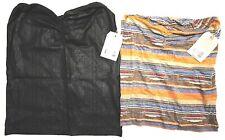 2 Obey Tube Tops! NWT! Striped Sedona & Desert Rain Black Young Women's Size Sm