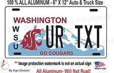 Custom Personalized License Plate WASHINGTON STATE TAG Vanity ALUMINUM - AUTO