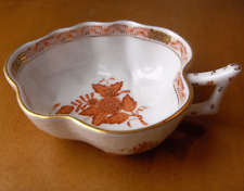Herend Hungary Chinese Rust Bouquet larger open leaf bonbon dish~Pristine-NR