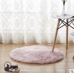 New 40-80cm Plush Round Carpet Throw Rug Anti-Skid Shaggy Carpet Soft Floor Mat