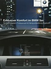 Prospekt 2009 BMW 5er Navigationssystem Professional Bluetooth 3 09 brochure