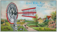 Star Wind Mill 1875 Country Farm Landscape FLINT WALLING Mfr * Art Print Poster