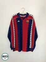 BARCELONA FC 1992/95 Kappa Laudrup Home Football Shirt XL Vintage Soccer Jersey