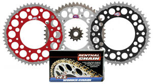 Renthal Grooved front & Twinring rear sprocket & R1 chain kit for Honda XR650R